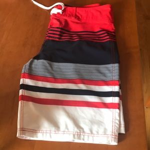 Mossimo Supply Co. Swim - Mossimo Men's Board Shorts Sz 34 wht/red/navy